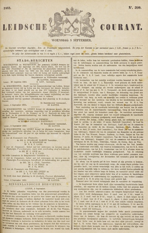 Leydse Courant 1883-09-05