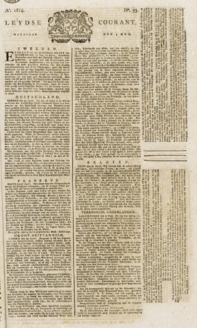 Leydse Courant 1814-05-04