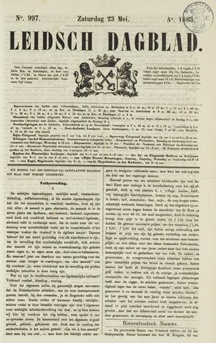 Leidsch Dagblad 1863-05-23
