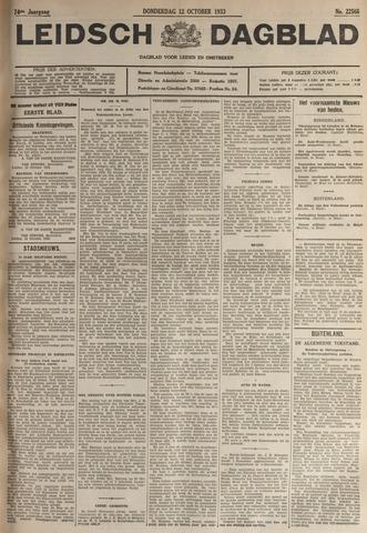 Leidsch Dagblad 1933-10-12
