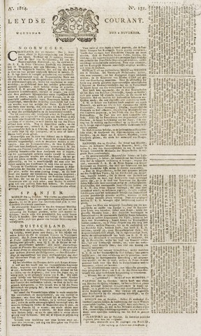 Leydse Courant 1814-11-02