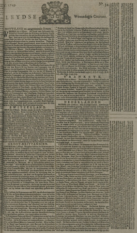 Leydse Courant 1749-03-19