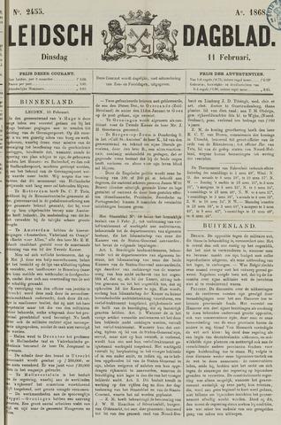 Leidsch Dagblad 1868-02-11