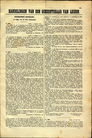 Handelingen van de Raad 1874-08-05