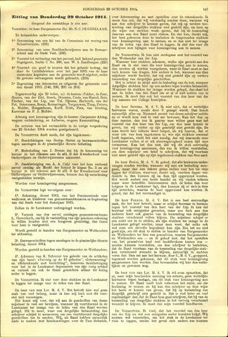 Handelingen van de Raad 1914-10-29