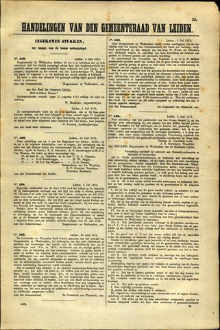 Handelingen van de Raad 1875-07-06