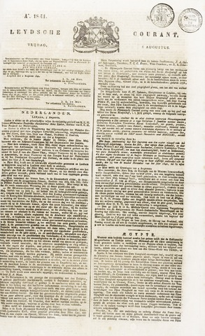 Leydse Courant 1841-08-06