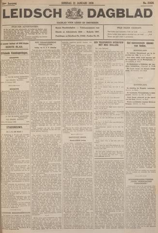Leidsch Dagblad 1930-01-21