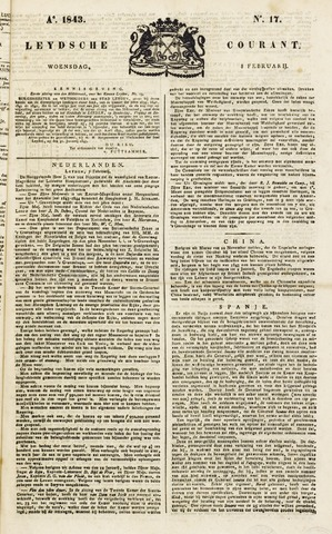 Leydse Courant 1843-02-08