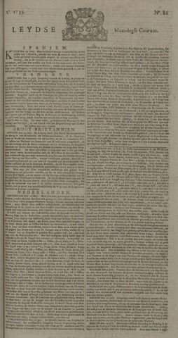 Leydse Courant 1739-07-20