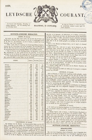 Leydse Courant 1850-01-21