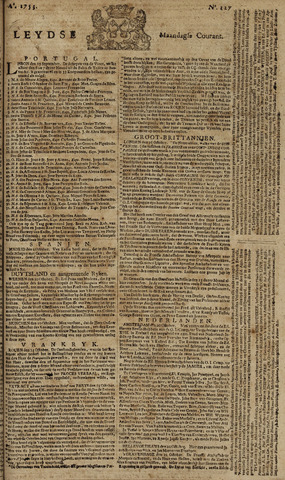 Leydse Courant 1753-10-22