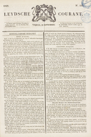 Leydse Courant 1849-09-28