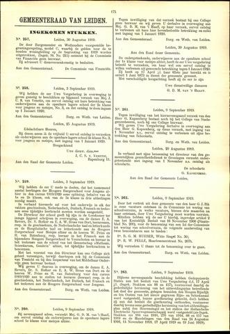 Handelingen van de Raad 1919-08-30