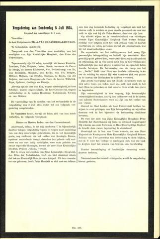 Handelingen van de Raad 1934-07-05