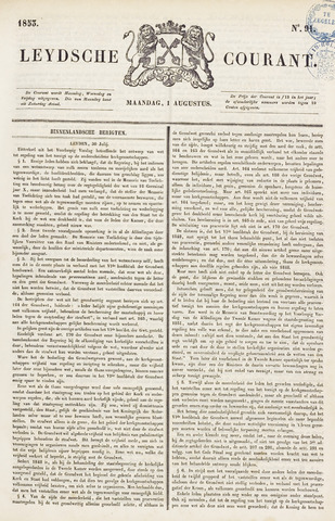 Leydse Courant 1853-08-01