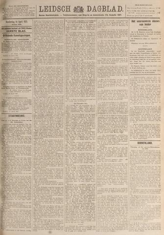 Leidsch Dagblad 1921-04-14