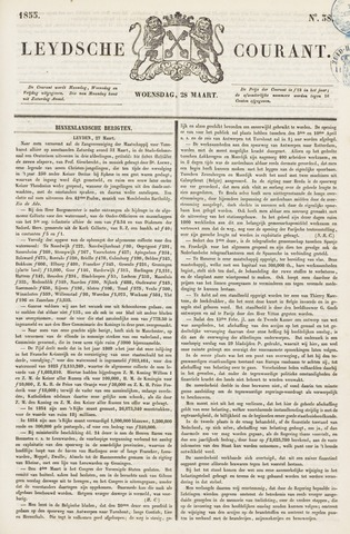 Leydse Courant 1855-03-28