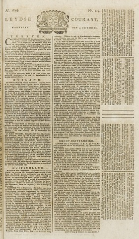 Leydse Courant 1819-09-22