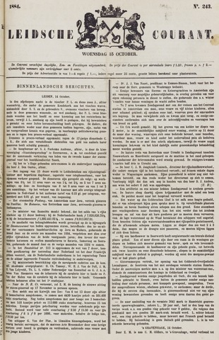 Leydse Courant 1884-10-15