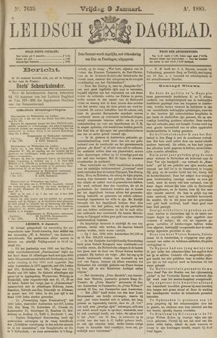 Leidsch Dagblad 1885-01-09