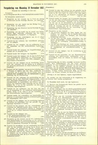 Handelingen van de Raad 1937-11-22