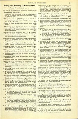 Handelingen van de Raad 1923-10-15