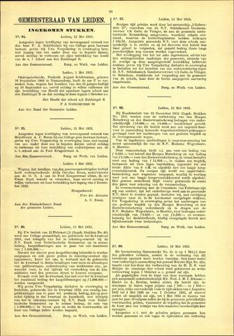 Handelingen van de Raad 1933-05-12