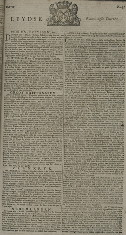 Leydse Courant 1729-03-23