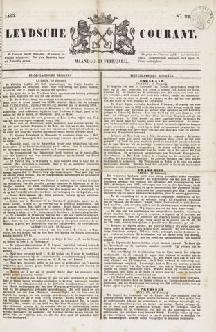 Leydse Courant 1865-02-20