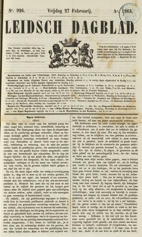 Leidsch Dagblad 1863-02-27