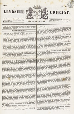 Leydse Courant 1865-08-18