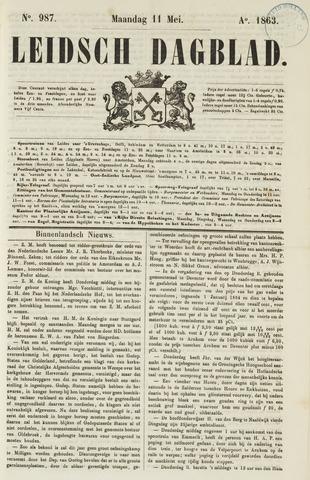 Leidsch Dagblad 1863-05-11