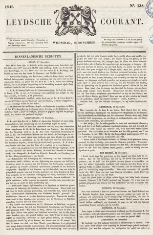 Leydse Courant 1846-11-18