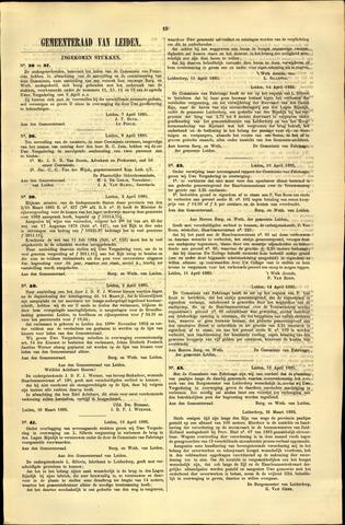 Handelingen van de Raad 1885-04-07