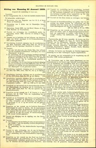 Handelingen van de Raad 1929-01-21