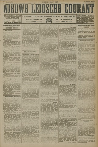 Nieuwe Leidsche Courant 1927-03-01