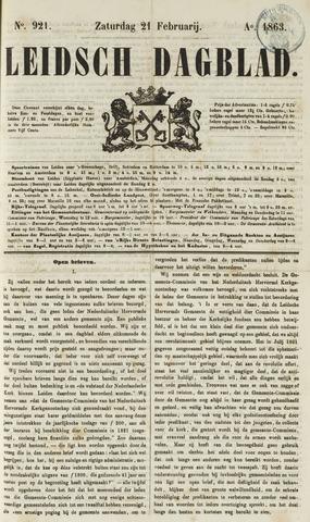 Leidsch Dagblad 1863-02-21