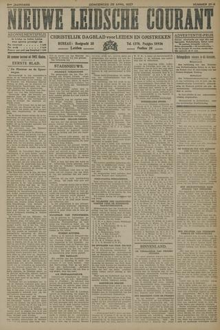Nieuwe Leidsche Courant 1927-04-28