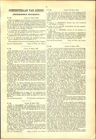 Handelingen van de Raad 1904-03-21