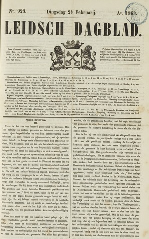 Leidsch Dagblad 1863-02-24