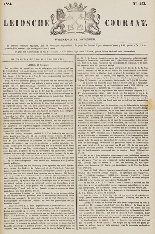 Leydse Courant 1884-11-19