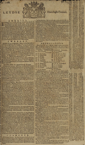 Leydse Courant 1766-10-13