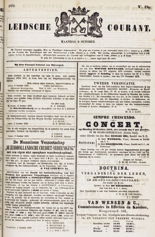 Leydse Courant 1876-10-09