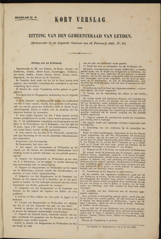 Handelingen van de Raad 1855-02-15