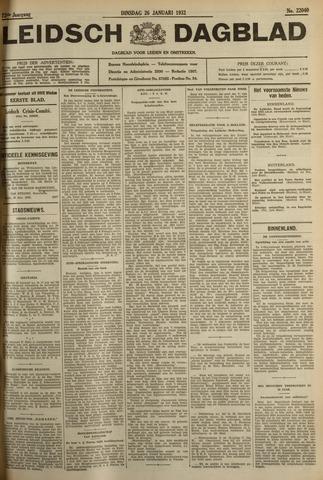 Leidsch Dagblad 1932-01-26