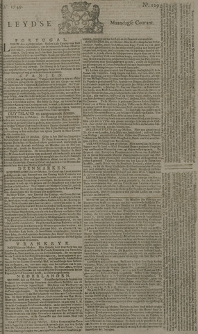 Leydse Courant 1749-10-27