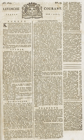 Leydse Courant 1825-04-01