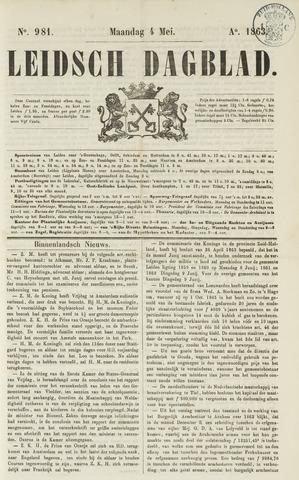 Leidsch Dagblad 1863-05-04