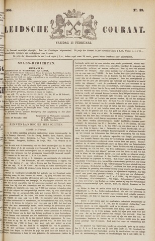 Leydse Courant 1884-02-15